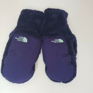 North Face Winter Furry Gloves Mittens